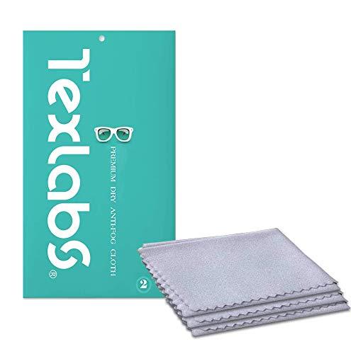 Antibeschlagtuch Brille, Anti-Fog-Tuch, Anti-Beschlag-Reinigungstücher für Brillen, wiederverwendbare Brillentücher für Objektive, Brillen, Telefon, LCD-TV-Bildschirme, Auto, Kamera(15x15 cm, 2 Stück)