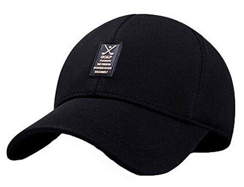 BLANCHO BEDDING Mode Baseball Outdoor Caps Adjustable Cap Hommes Chapeaux, Noir #01