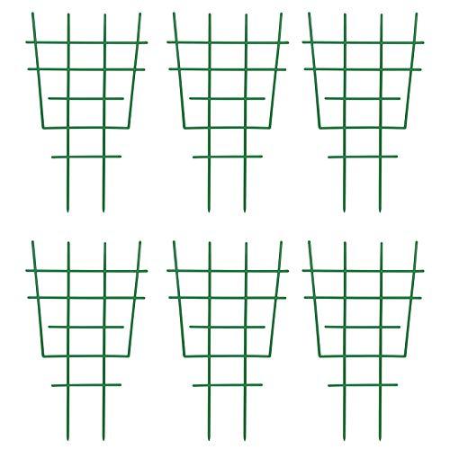 Fittoway Mini Pflanzenstütze DIY Garten Rankhilfe für Kletterpflanzen Pflanzenklettergitter und Reben Kunststoff-Pflanzen-Spalier Topfpflanzenstütze Pflanzenunterstützung (6 Stück)