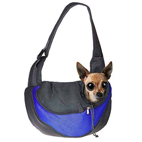 KinderALL Bolso Transportin Perro Pequeño Bolsos para Mascotas Transportadores de Mascotas para Gatos Perro Bolsas para Perros pequeños Deep Blue,l