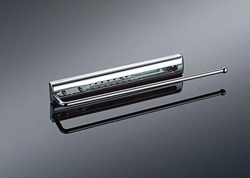 Naber Handtuchhalter fürs Bad mit Abdeckung, 1-armig, 65 mm, chrom
