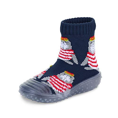 Sterntaler Baby - Jungen Adventure-Socks, Socke mit Gummisohle, Wasserschuh, Größe: 23/24, Marine