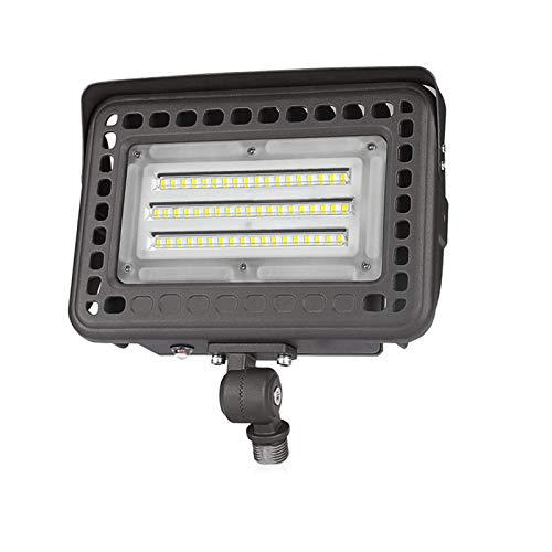 SZGMJIA 60W LED Flood Light with Knuckle, Dusk to Dawn Photocell, CREE LED 5000K 7800lm 300W Equivalent,Waterproof Security Light for Yard Garden Playground