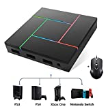 PXN K5 Pro Keyboard Mouse Converter Adapter Box Compatible with PS3, PS4, XBOX One, N-Switch FPS Shooting Games, Keyboard Mapping, Plug and Play