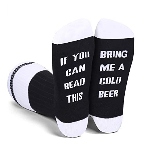 Men's If You Can Read This Novelty Funny Saying Beer Socks Fun...