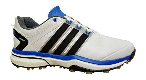 Adidas Adipower Boost Chaussures de golf pour homme - - white black blue Q46923,