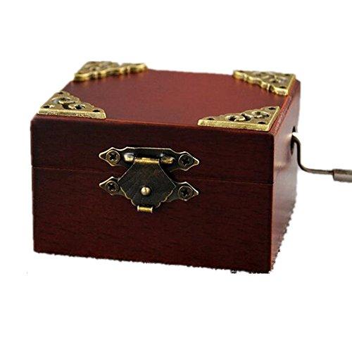 Vintage Square Hand Crank Music Box Child Gift