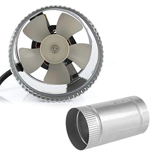 Ventilatore di aria di scarico da 4/6 pollici Ventilatore di sfiato per condotto in linea portatile Ventilatore di aria di scarico Ventilatore di sfiato per condotto in linea a basso rumore(4 inch)