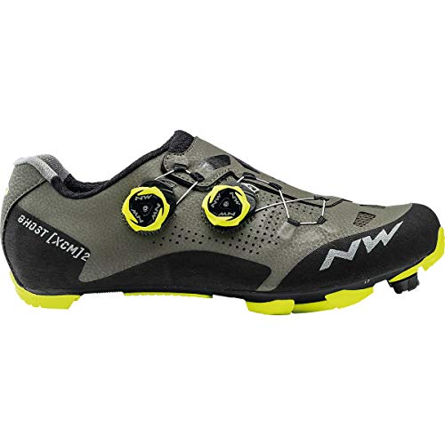 Northwave Ghost XC Cycling Shoe - Men's Black/Yellow Fluo, 44