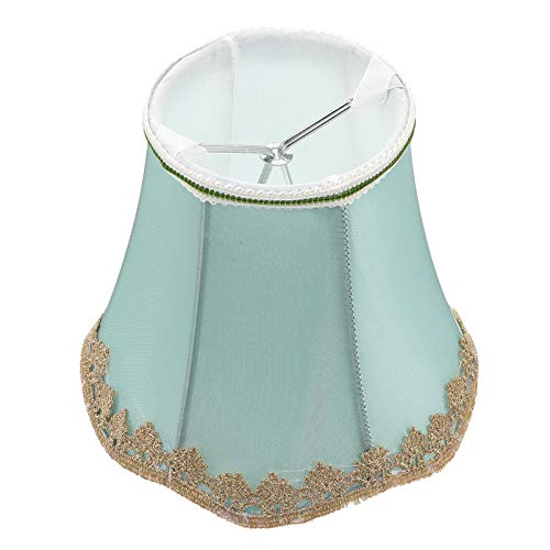 SOLUSTRE Lámpara Vintage de Tela de Pantalla con Forma de Campana Real Reemplazo de Pantalla de Lámpara Decorativa Accesorios para Lámpara de Mesa Lámpara de Pie Lámpara de Pared Verde