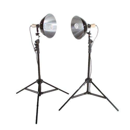 Fovitec StudioPRO 450 Watt 2 Photography Photo Video Studio Continuous 5500K Lighting Kit - Includes Lightstands & Reflectors