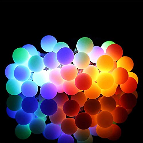 Guirnalda de luces navideñas, 10 m, 100 luces LED, multicolor, impermeables, de cobre, para interiores y exteriores, con mando a distancia para luces de jardín, dormitorio para niñas/niños