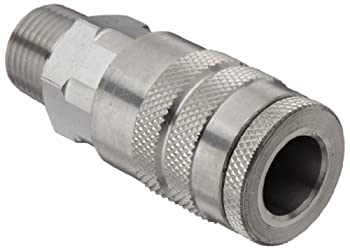 Dixon Valve & Coupling DC9S Stainless Steel 303 Air Chief Industrial Interchange Quick-Connect Hose Fitting 1/2  Coupling x 1/2  NPT Male