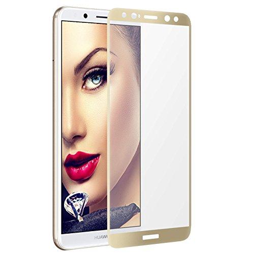 mtb more energy Gewölbtes 3D Kombi-Schutzglas für Huawei Mate 10 Lite (5.9'') - Goldener Softframe - 2.5D - Curved Full Display Glasfolie