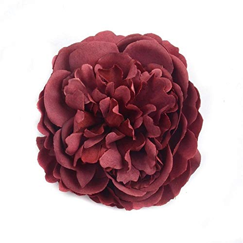 AOA 2/10/50p 8CM Artificial Silk Peony Flower Head For Wedding Party Decoration Flower Wall Fake flowers,Wine,2pcs