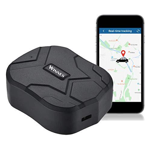 GPS Tracker,10000mAh 150 días de Espera,Seguimiento en Tiempo Real,Magnético Fuerte Rastreador Antirrobo a Prueba de Agua,Localizador de GPS para Coche/Camión/Motocicleta/Barco, Aplicación Gratuita