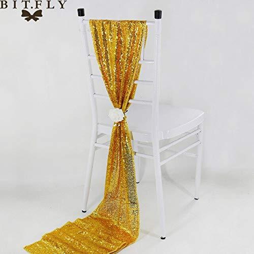 Gouden pailletten lovertjes kwastje kleur tafel 30x275cm vlagdrager tafel rose goud / / goud stijl champagne zilver/luxe bruiloft van het hotel decoratie etentje,30x275cm (12x108in),goud