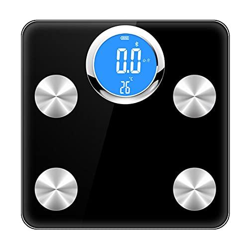 ZREYLLB Báscula Bluetooth Inteligente Báscula de Peso de Baño Digital Analizador de Composición Corporal Escala Inalámbrica de Grasa Corporal BMI APLICACIÓN Inteligente Pérdida de Peso Aptitud Física