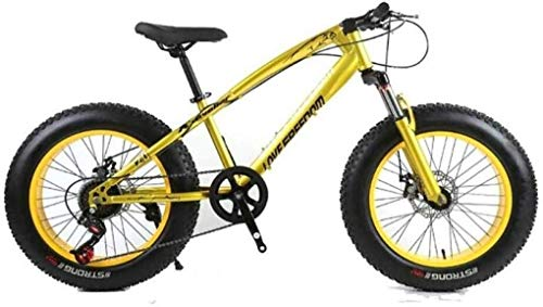 Mountain bike, Adult Mountain Bike, Mountain Trail Bike High Carbon Steel Outroad Bicycles Mountain Bike 7 Speeds 26 Inch Fat Tire Road Bicycle Snow Bike/Beach Bike With Disc Brakes And Suspension For
