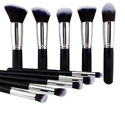 NAKED PLUS Makeup Brushes Set Tool Pro Foundation Eyeliner Eyeshadow (Black)