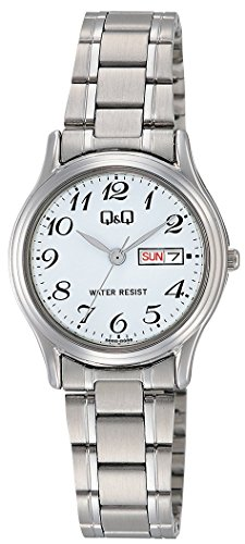 [シチズン キューアンドキュー]CITIZEN Q&Q 腕時計 スタンダード アナログ ブレスレット 日付 曜日 表示 ホワイト A205-204 レディース