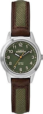 Timex Expedition - Reloj de Pulsera con Correa de Piel Color marrón de Timex