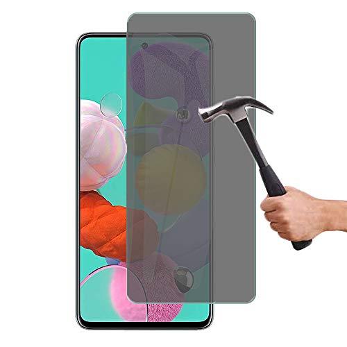 Lapinette in vetro temperato compatibile con Samsung Galaxy A51, anti-spia, protezione schermo in vetro temperato, per Samsung Galaxy A51, anti-spia, filtro privacy in vetro temperato