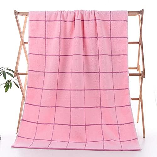 Toalla de baño New Big gant algodón Suave Absorbente de Agua Toalla Grande Toalla de Playa-Pink_70 * 140cm