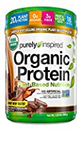 FROM AMERICA's #1 SELLING ORGANIC PLANT-BASED PROTEIN – Purely Inspired Organic Protein Powder delivers 20 grams of plant-based protein with 140 calories, 3g fiber, 0g added sugar per serving TASTES GREAT and MIXES EASILY – Mix in a glass or shaker b...
