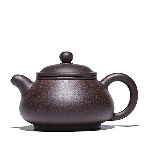 YF-SURINA Tetera hecha a mano Zisha Pot Jiuli Cinnabar Pan Pot Tetera de trabajo fino