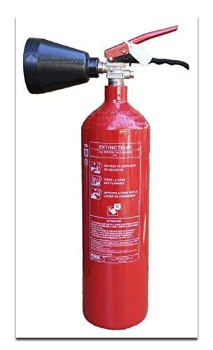 CO2-Feuerlöscher, Kapazität 2 kg mit Halterung, CE-Norm