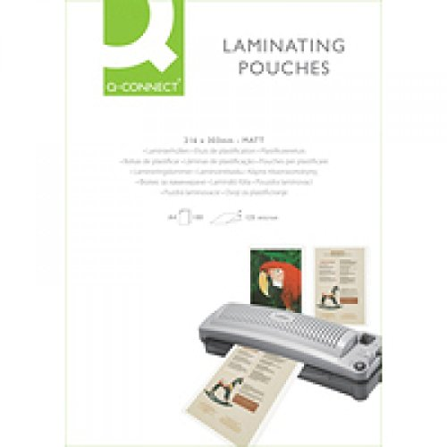 Q-Connect KF24055 Pochette à plastifier A4 125 microns Mat Lot de 100 (Import Royaume Uni)