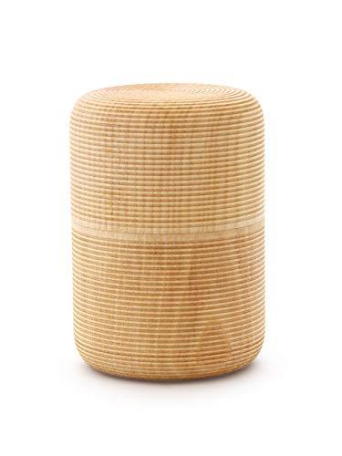 Gato Mikio - japanische Teedose Soji Tawara, Holz Zier-Kirschen-Birke, für 100g losen Tee. Aroma-Schutz. Von Hand in Japan gefertigt.