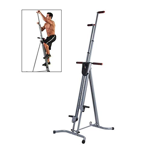 Vertical Climber Cardio Exercise - Máquina de escalada plegable para ejercicios, máquina de escalada para entrenamiento corporal total para gimnasio en casa, bicicleta estática para entrenador corpor