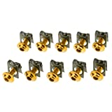 Gazechimp 10 Tornillos Tuercas de Parachoques de M5/5mm Partes para Motocicleta de Honda Kit de Reemplazo - Oro