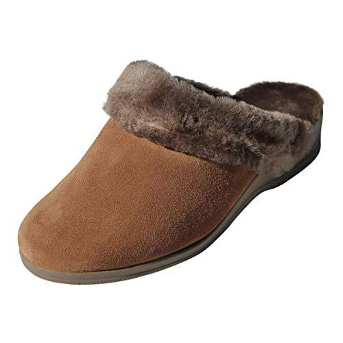 Hollert Damen Lammfell Hausschuhe BIEKAMP Camel Fellschuhe Puschen echtes Merino Schaffell sehr warm Größe EUR 37