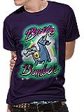 T-Shirt (Unisex-L) Brite Bomber Airbrush (Purple)