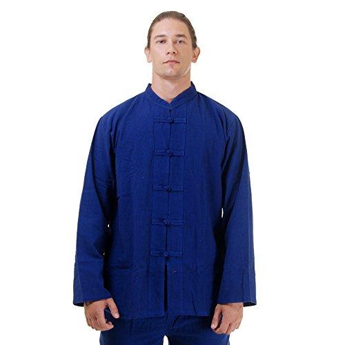 Kung Fu, Tai Chi & Meditations Shirt Jacke Baumwolle Größe L Blau