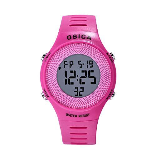 Reloj deportivo digital para mujer, pantalla LED resistente al agua, moda juvenil, relojes electrónicos de protección ambiental masculina y femenina