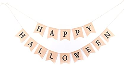Best burlap happy halloween banner Reviews