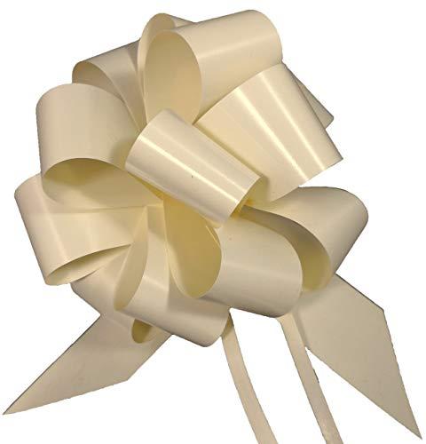 Zelda Bomboniere 50 x stora presentbågar för bilantenner/speglar, elfenben