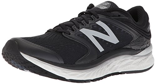 New Balance Men's Fresh Foam 1080 V8 Running Shoe, Black/White, 13 4E US