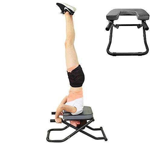 N / C Taburete de Fitness, Taburete de Yoga, Taburete invertido, Estructura de Acero Reforzado, Fuerte y cómodo, Seguro y Estable, fácil de Montar, Adecuado para invertido