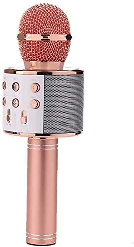Bluetooth Karaoke Micrófono portátil Handheld Micrófono de Karaoke Papel de cumpleaños para Android/iPhone/PC o Todos los teléfonos Inteligentes Excellent