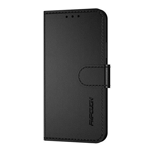 XINYUNEW Hülle für Xiaomi Black Shark 3,Klappbare Handyhülle,RFID Schutzhülle [Schützt vor Stößen][Magnetverschluss][Kartenfach][Verdicktes TPU][Premium Leder] Lederhülle Hülle Cover Schwarz