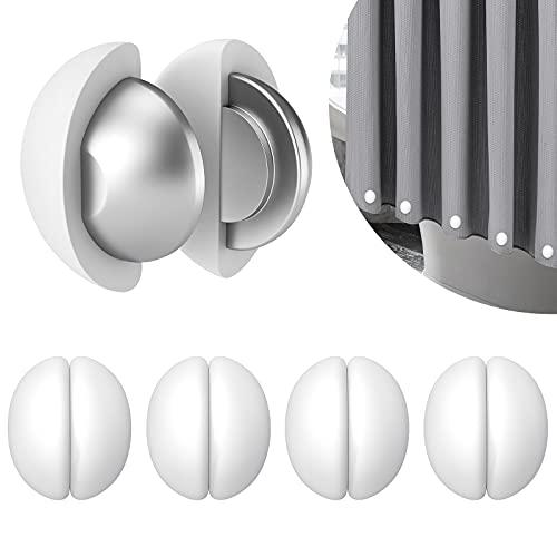 Duschvorhang Gewichte, Niemals Rost Duschvorhang Magnete, Tischdecken Magnete Silikonbeschichtete Magnete, für Fenstervorhang, Duschvorhang, Tischdecke 5 Paar (weiß)