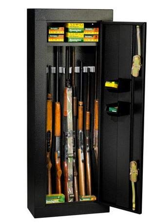 Stack On Gun Cabinet - Black Steel with Tubular Locking...