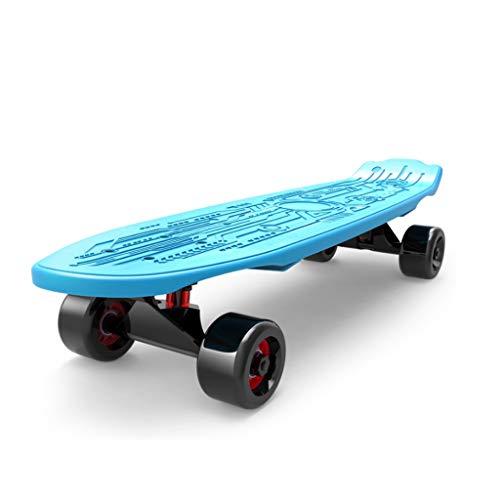 Fenfen-cz Retro Complete Deck Cruiser Kunststoff Skateboard Skater Skating Mehrfarbiges Board ABEC Erhältlich in verschiedenen Deckfarben und Radfarben , 68cm (Color : Blue)