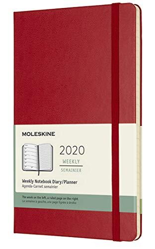 Moleskine - Agenda Semanal de 12 Meses 2020, Tapa Dura y...