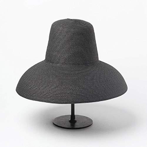 TJLSS Mujer lámpara lámpara Sol Sombrero Rojo Negro Beige Ancho Sombrero de Verano Sombrero de Playa Alta Tapa Plegable Tapa Gorra Gorra de Viaje (Color : A)